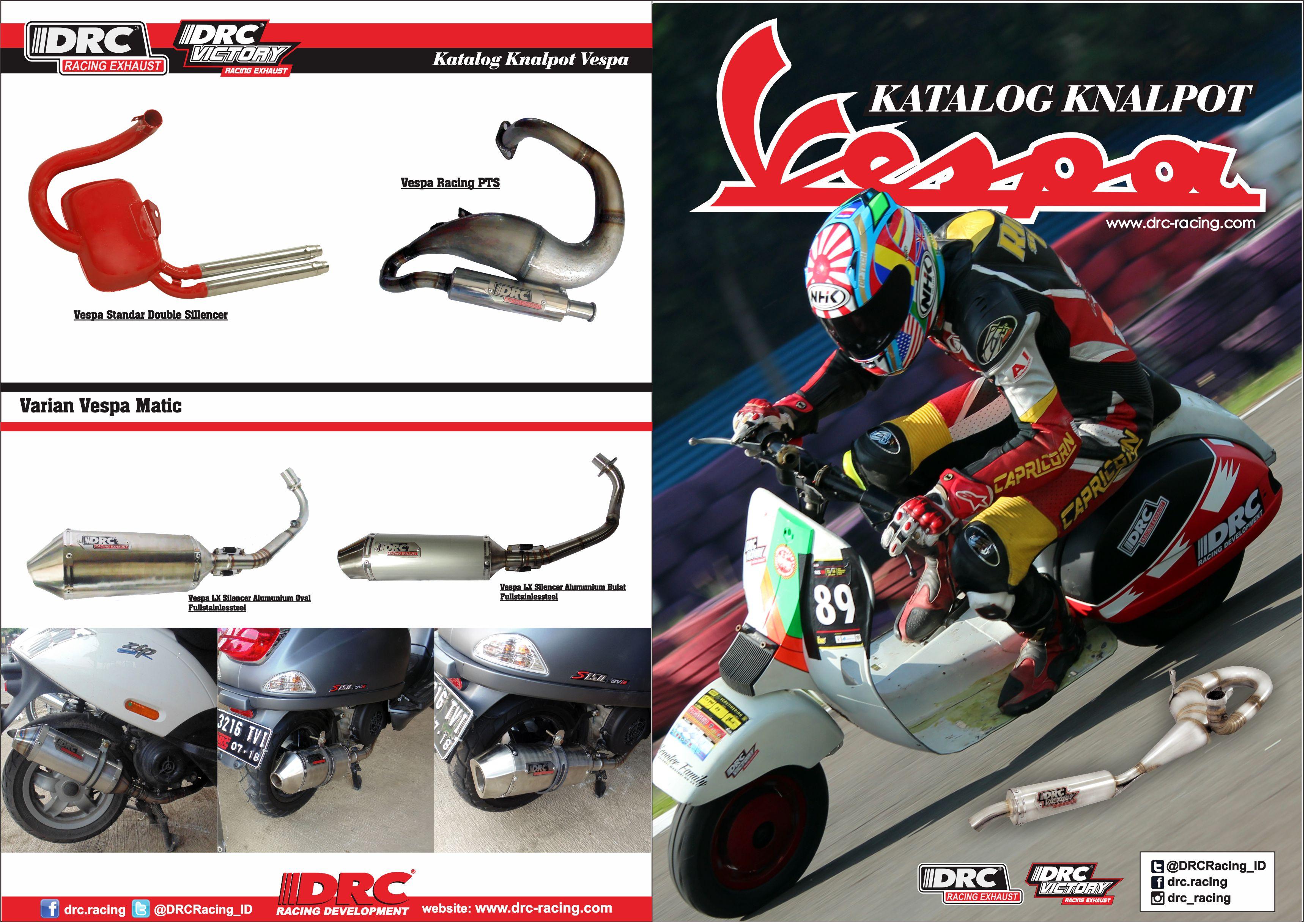 Katalog knalpot vespa drc racing 1